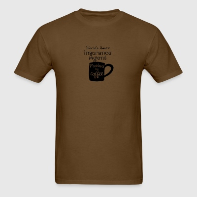 World's Best Insurance Agent Fueled By Coffee - Men's T-Shirt