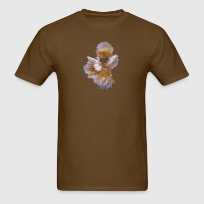 yellow siamese fighting fish - Men's T-Shirt