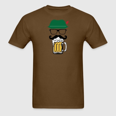 Oktoberfest Hat Glass Beer - Men's T-Shirt