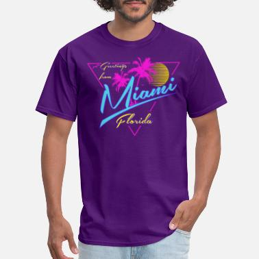 Miami Beach Greetings From Miami tee shirts - Men's T-Shirt