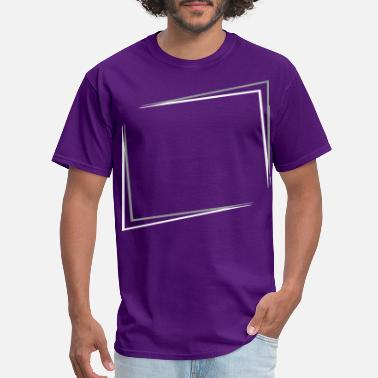 Square Outline 3D effect - Men's T-Shirt