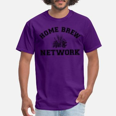 Network Home Brew Network Malt and Hops - Black - Men's T-Shirt