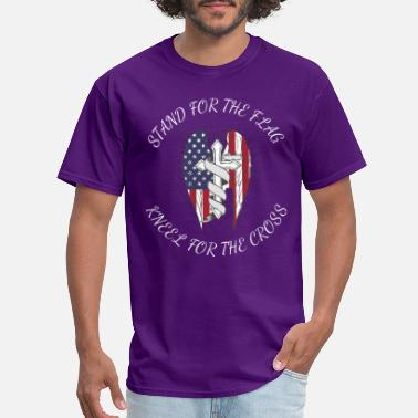 Sacrifice Stand For the Flag, Kneel For The Cross - Men's T-Shirt