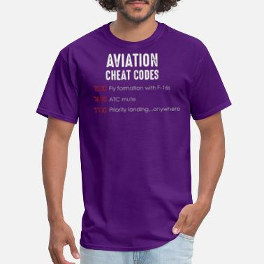 Cheat Aviation cheat codes Funny Tshirt - Men's T-Shirt