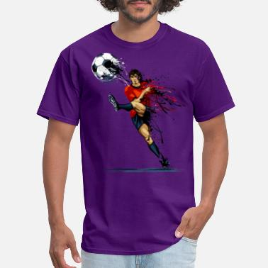 Halftones lets football - Men's T-Shirt