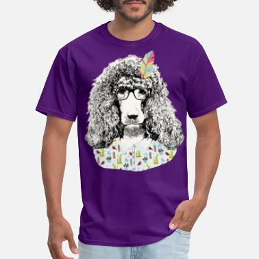 Design Hipster poodle - Men's T-Shirt