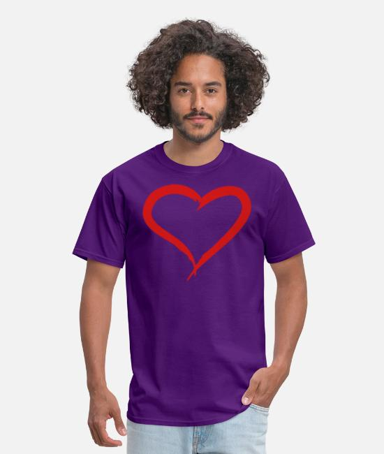 Love T-Shirts - Brushed Heart - Men's T-Shirt purple