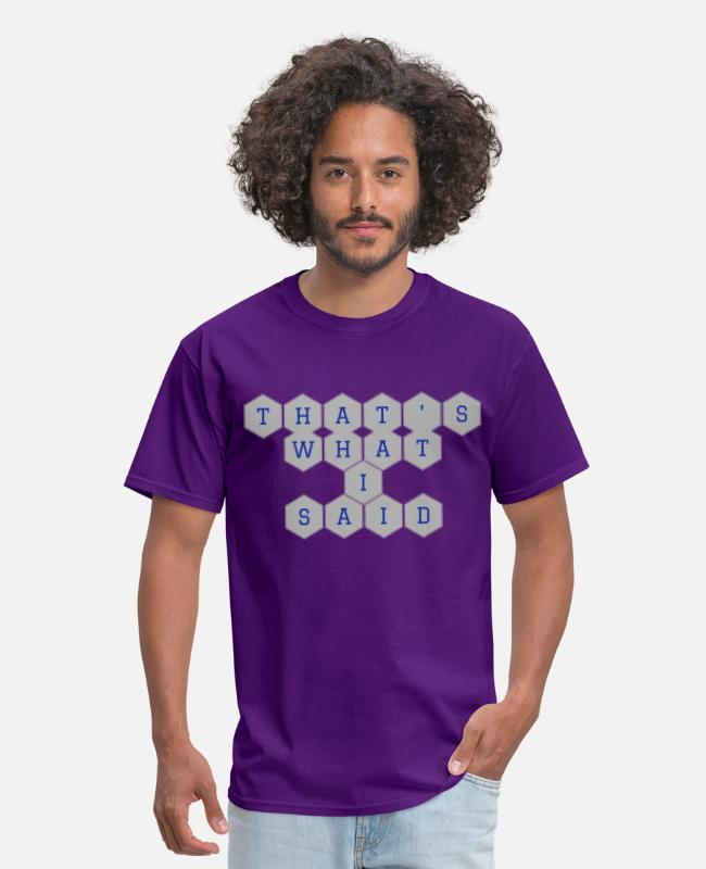 Office T-Shirts - My Post 9 - Men's T-Shirt purple