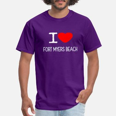 Fort Myers Beach I LOVE FORT MYERS BEACH - Men's T-Shirt
