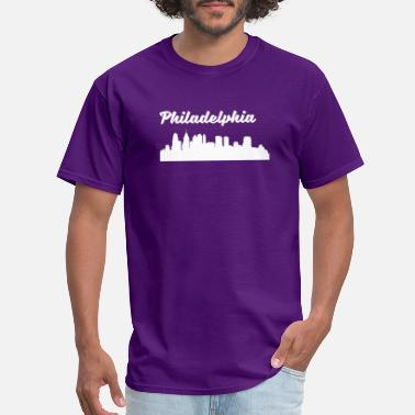 Philadelphia Skyline Silhouette Philadelphia PA Skyline - Men's T-Shirt