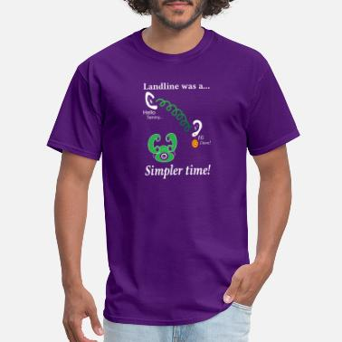 Landline LANDLINE WAS A SIMPLER TIME FUNNY GIFT - Men's T-Shirt