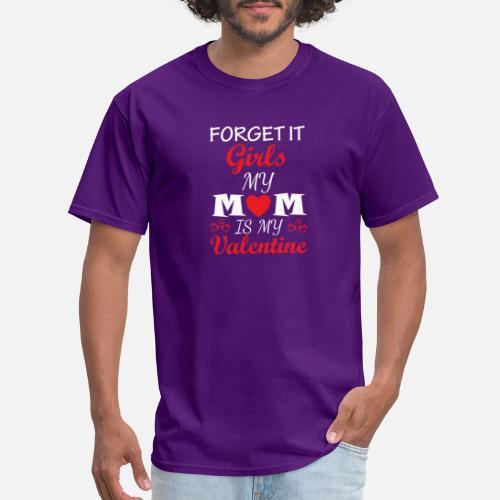 Funny Valentines Day Shirt Mom Is My Valentine Boy Girl Kids 2 By