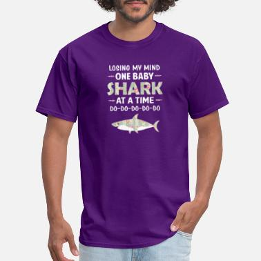 Losing My Mind One Baby Shark At A Time Floral - Men's T-Shirt