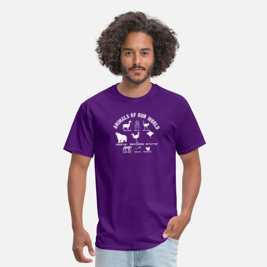 Seafood T-Shirts - ANIMALS OF OUR WORLD - Men's T-Shirt purple