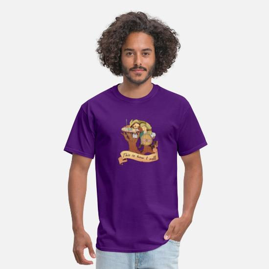 Fantasy T-Shirts - Fun How I Roll Tabletop Gaming Gift Print Dragons - Men's T-Shirt purple