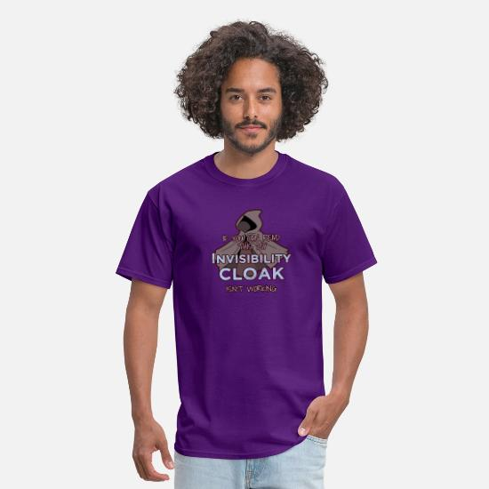 Fantasy T-Shirts - Cloak Of Invisibility DM Tabletop Gift Dragons - Men's T-Shirt purple