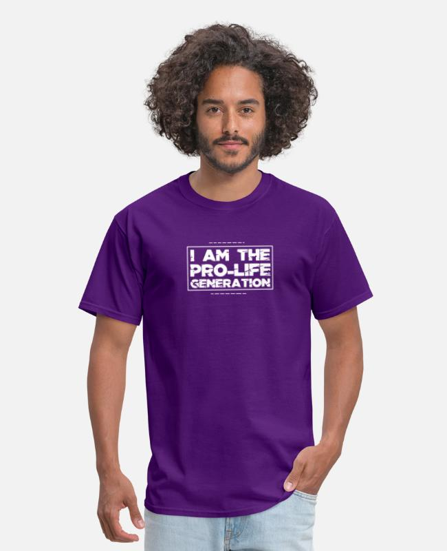 Jesus T-Shirts - Pro Life Gift Print Anti Abortion Pro Life - Men's T-Shirt purple