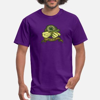 Stoner Roll It Up Weed Gift Medical Marijuana Cannabis - Men's T-Shirt