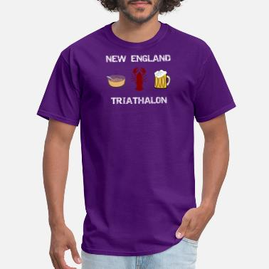 Wicked New England New England Triathalon Funny New Englander - Men's T-Shirt