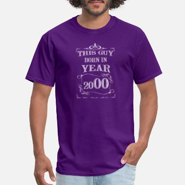 Funny White Guy this guy born in year 2000 white - Men's T-Shirt