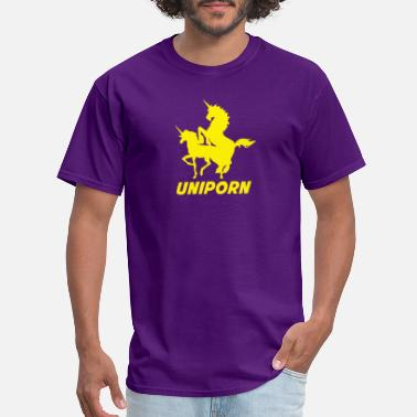 Porn Comics Uniporn Funny t Unicorn comic porn horse myth ride - Men's T-Shirt