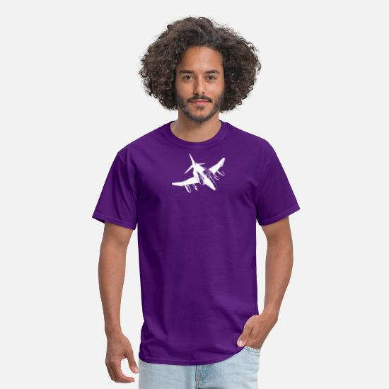 Movie T-Shirts - McDonnell F 4 Phantom US Air Force Luftwaffe Marin - Men's T-Shirt purple