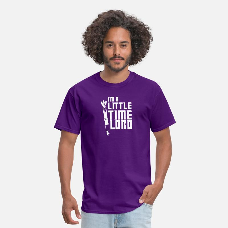Lord T-Shirts - I m A Little Time Lord - Men's T-Shirt purple