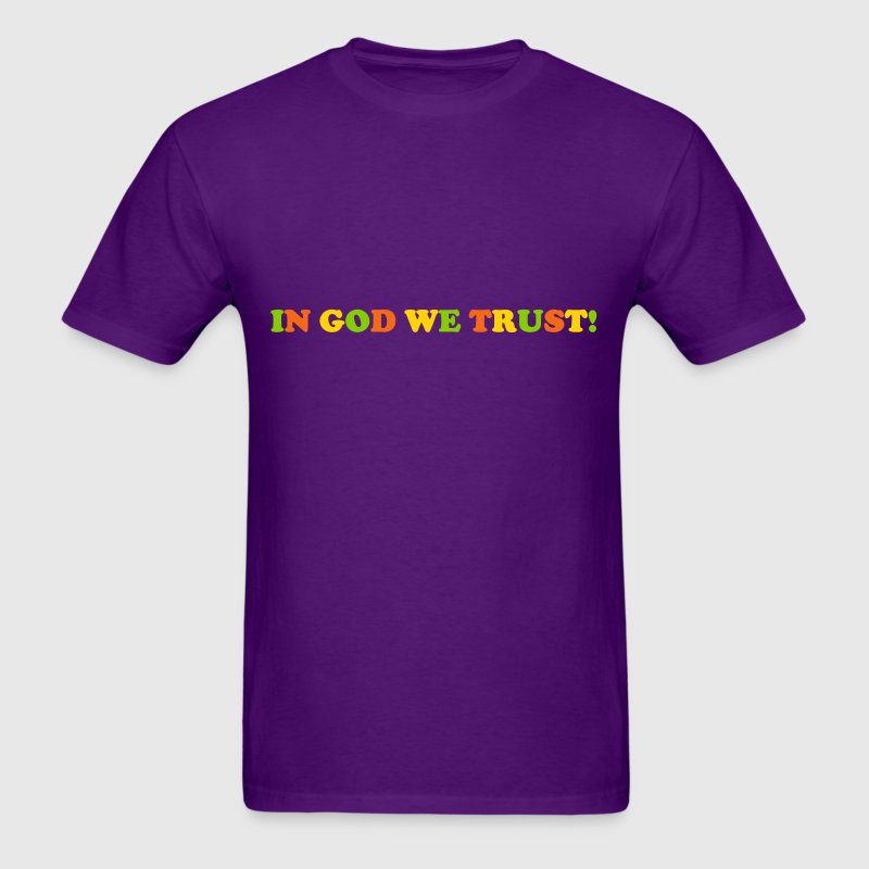 In God We Trust Statement Jesus Religion Fun Party - Men's T-Shirt