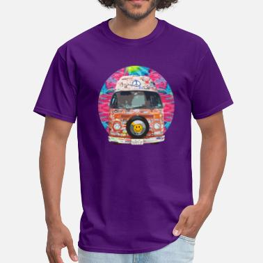 Auto Sticker Groovy Hippie Van - Men's T-Shirt
