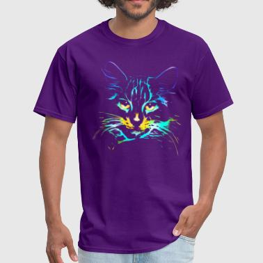 Neon Light neon Cat - Men's T-Shirt