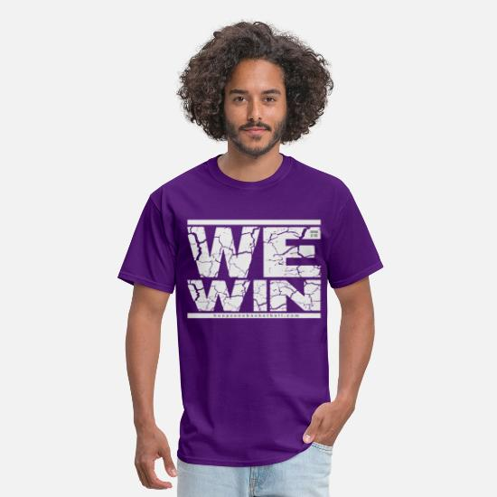 Sports Basketball Hoops Hoopzone Christian T-Shirts - WeWin4dark.png - Men's T-Shirt purple