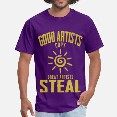 Good artists copy, great artists steal yellow - Men's T-Shirt