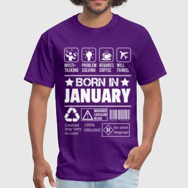 Legend Are Born In January Born In January - Men's T-Shirt