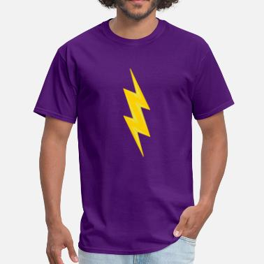 Shock electric shock danger shield lightning symbol cabl - Men's T-Shirt