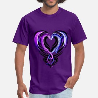 Purple Dragon Dragon Heart - Men's T-Shirt
