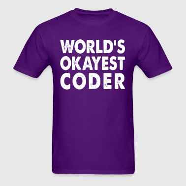 World's Okayest Coder Programmer Developer - Men's T-Shirt