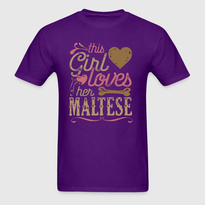 This Girl Loves Her Maltese Dog Dogs - Men's T-Shirt