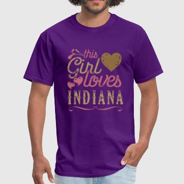 Love Indiana This Girl Loves Indiana - Men's T-Shirt