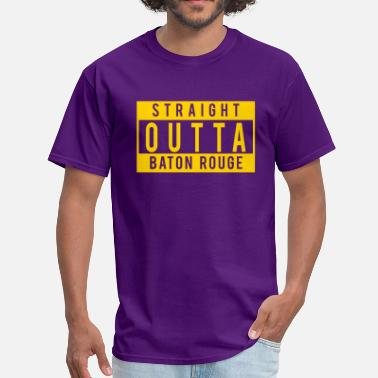 Les Miles Straight Outta Baton Rouge - Men's T-Shirt