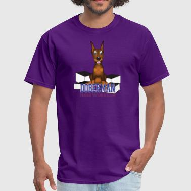 Doberman Nosework Dog - Men's T-Shirt