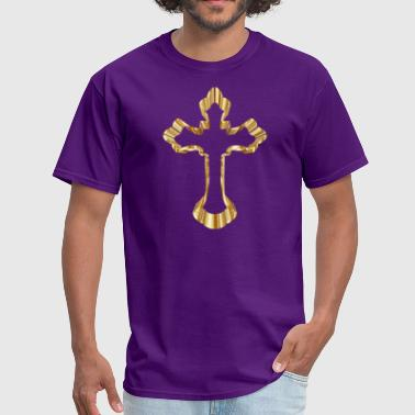 Gold Ornate Cross - Men's T-Shirt