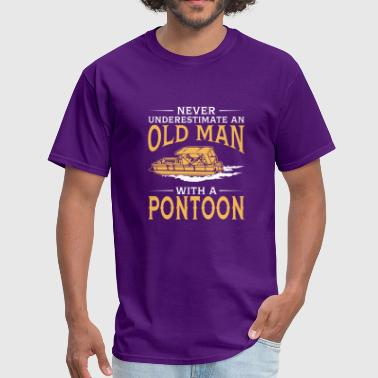 funny An Old Man With A Pontoon - Men's T-Shirt