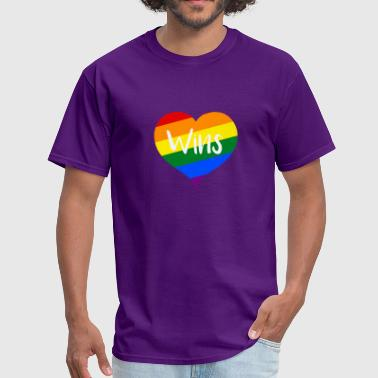 Equality Love Wins Equality Love Wins Rainbow Marraige Equality - Men's T-Shirt