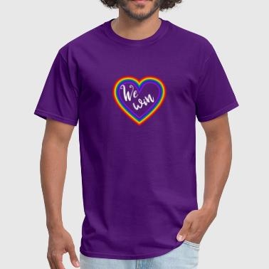 Equality Love Wins Equality We Win Gay Marriage Love Wins - Men's T-Shirt