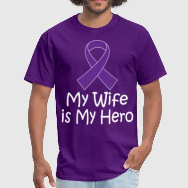 Alzheimers Lupus Pancreatic Cancer Wife Hero - Men's T-Shirt