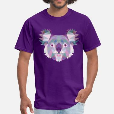 Polygonal Animal Polygonal Koala - Men's T-Shirt