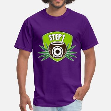 One Step Step One Logo (Green) - Men's T-Shirt