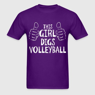 This Girl Digs Volleyball - Men's T-Shirt