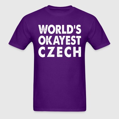 World's Okayest Czech Czech Republic - Men's T-Shirt