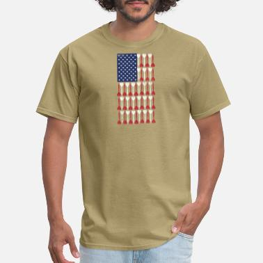 Vintage Us Flag Vintage Flag ➢ US Flag Made of Darts ➢ Bullseye - Men's T-Shirt